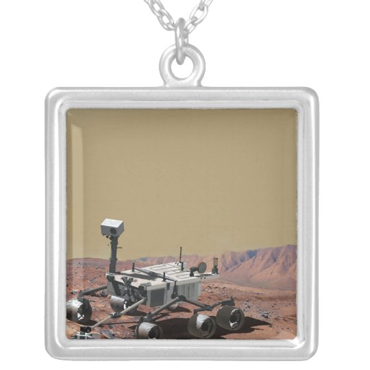 Mars Science Laboratory Silver Plated Necklace