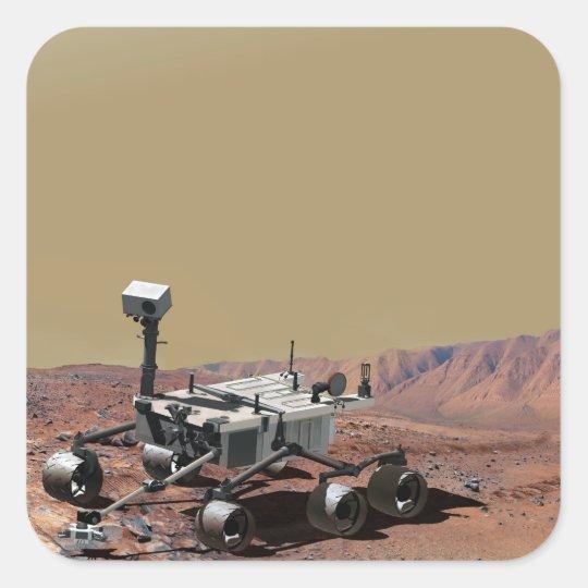 Mars Science Laboratory Square Sticker