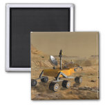Mars Science Laboratory travels near a canyon 2 Inch Square Magnet