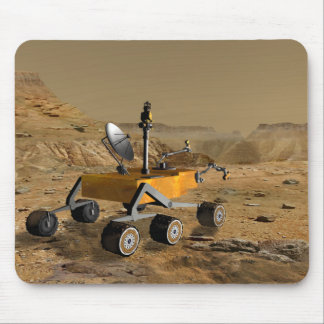 Mars Science Laboratory travels near a canyon Mouse Pad