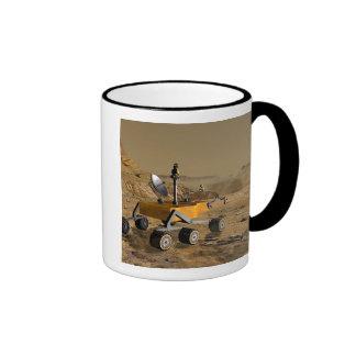 Mars Science Laboratory travels near a canyon Ringer Coffee Mug