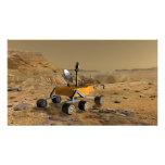 Mars Science Laboratory travels near a canyon Photo Print