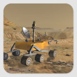 Mars Science Laboratory travels near a canyon Square Sticker