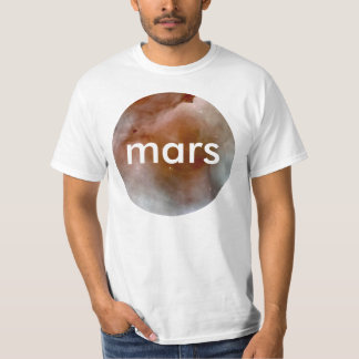 mars Shirt with Circle Textured Illustration