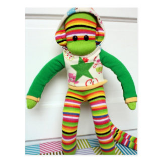 Mars Sock Monkey Post Card - Andre