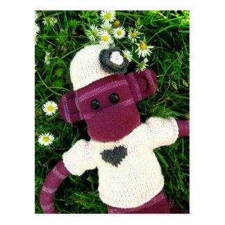 Mars Sock Monkey Post Card - Stella