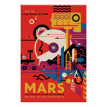 Mars Space Travel Poster