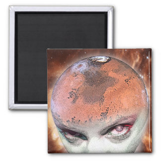 mars spirits by gregory gallo 2 inch square magnet