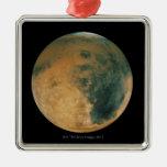 Mars Square Metal Christmas Ornament