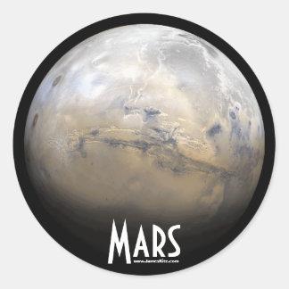 Mars Round Stickers