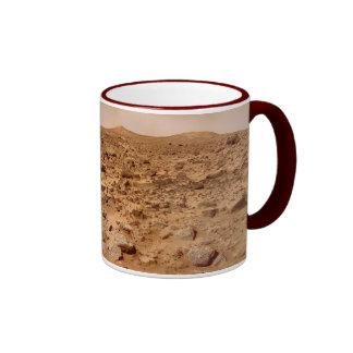 Mars Surface - Landscape View Ringer Mug