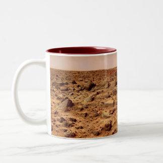 Mars Surface, Martian Landscape Two-Tone Coffee Mug