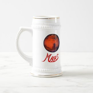 Mars - The Red Planet - Beer Stein