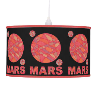 Mars The Red Planet Geek Chic Pendant Light Ceiling Lamp