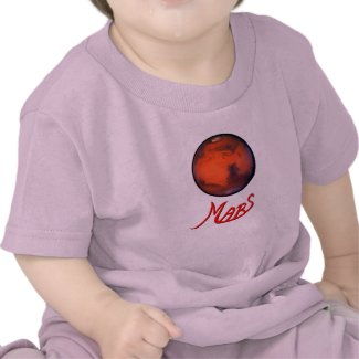 Mars -The Red Planet - Infant T-Shirt - Pk Bl Wt Y