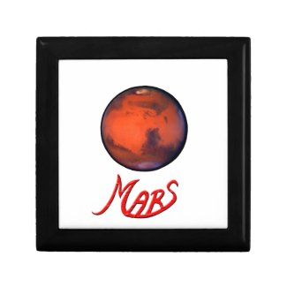 """""""Mars """"The Red Planet"""" Keepsake or Jewelry Box"""