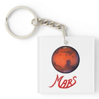 Mars - The Red Planet - Keychain