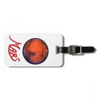 """Mars """"The Red Planet"""" Luggage Tag"""