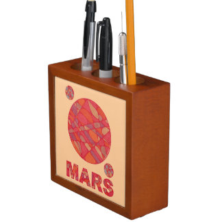 Mars The Red Planet Space Geek Pen Caddy Desk Organizer