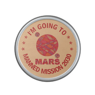 Mars The Red Planet Space Geek Solar System Fun Bluetooth Speaker