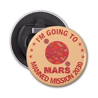 Mars The Red Planet Space Geek Solar System Fun Bottle Opener