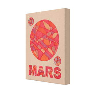 Mars The Red Planet Space Geek Solar System Fun Canvas Print