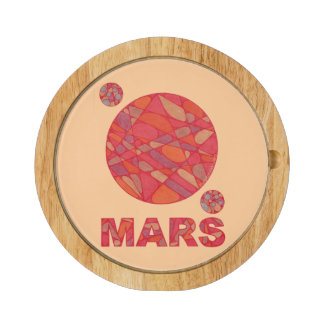 Mars The Red Planet Space Geek Solar System Fun Cheese Board