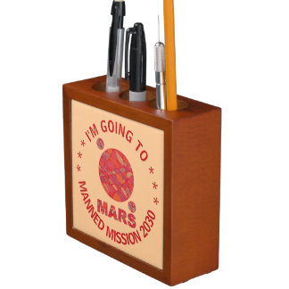 Mars The Red Planet Space Geek Solar System Fun Pencil/Pen Holder