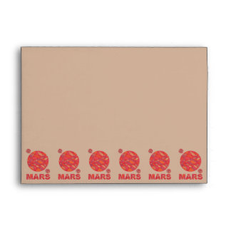 Mars The Red Planet Space Geek Solar System Fun Envelope