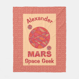 Mars The Red Planet Space Geek Solar System Fun Fleece Blanket