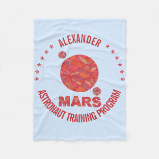 Mars The Red Planet Space Geek Solar System Fun Fleece Blanket