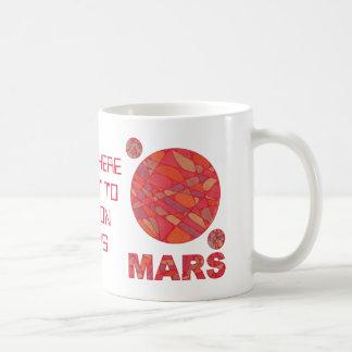 Mars The Red Planet Space Geek Solar System Fun Classic White Coffee Mug