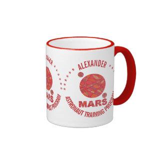 Mars The Red Planet Space Geek Solar System Fun Ringer Coffee Mug