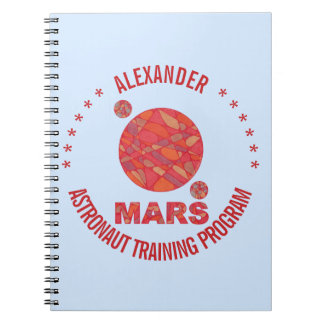 Mars The Red Planet Space Geek Solar System Fun Spiral Notebooks
