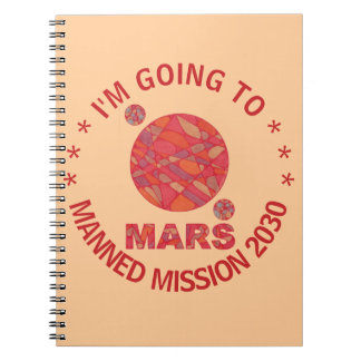 Mars The Red Planet Space Geek Solar System Fun Notebook