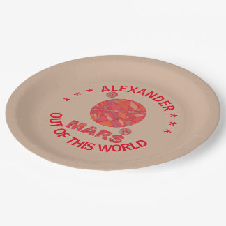 Mars The Red Planet Space Geek Solar System Fun Paper Plate