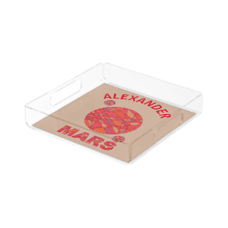 Mars The Red Planet Space Geek Solar System Fun Serving Tray