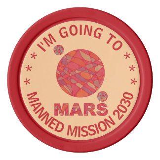 Mars The Red Planet Space Geek Solar System Fun Set Of Poker Chips