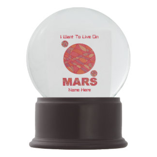 Mars The Red Planet Space Geek Solar System Fun Snow Globe