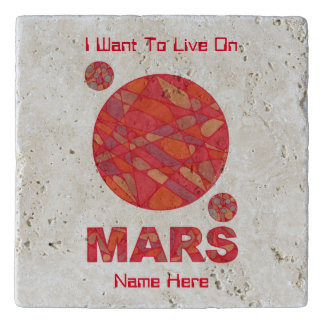 Mars The Red Planet Space Geek Solar System Fun Trivet