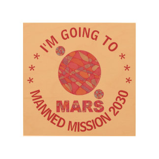 Mars The Red Planet Space Geek Solar System Fun Wood Wall Art