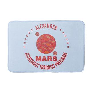 Mars The Red Planet Space Geek Solar System Fun Bath Mats