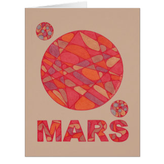 Mars The Red Planet Space Geek Solar System Jumbo Card