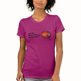 Mars -- Tickets On Sale -- Fine Jersey T-Shirt