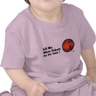 Mars - Tickets On Sale - Infant T-Shirt - Pk BL Wh