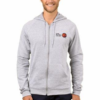 """Mars """"Tickets On Sale"""" Men's Zip Hooded Sweatshirt"""