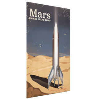 Mars - travel there today vintage travel poster canvas print