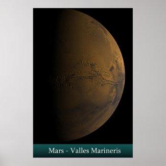 Mars - Valles Marineris Print