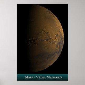 Mars - Valles Marineris Poster