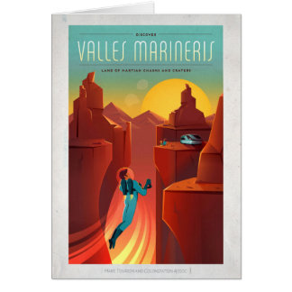 Mars Valles Marineris Sci-Fi Travel Card